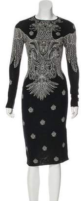 Alexander McQueen Intarsia Midi Sweater Dress