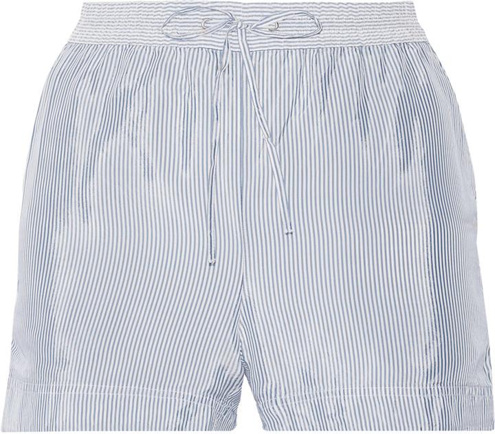 Alexander WangT by Alexander Wang Striped crepe de chine shorts