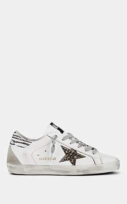 Golden Goose Women's Superstar Leather & Calf Hair Sneakers - White
