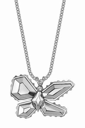 Palladium Belle Noel by Kim Kardashian Butterfly Pendant Necklace
