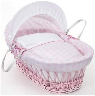 Clair De Lune Speckles Moses Basket -Pink