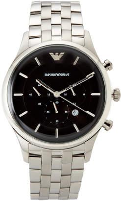 Emporio Armani AR11017 Silver-Tone & Black Watch