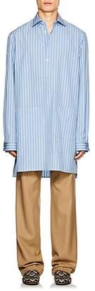 Gucci Men's Striped Cotton Poplin Tunic - Blue