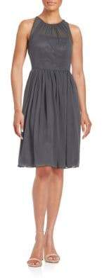 Calvin Klein Shirred Illusion Dress