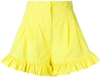 MSGM ruffle trim shorts