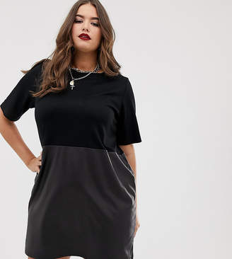Plus Size Leather Dress - ShopStyle UK