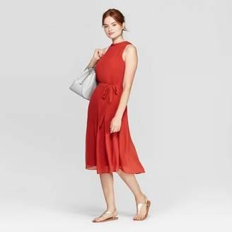 A New Day Women's Sleeveless Round Neck Maxi A Line Dress Rust