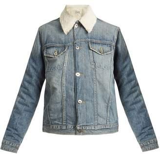 EVE DENIM Sophia faux-shearling lined denim jacket
