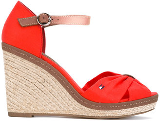 Tommy Hilfiger wedged sandals $107.46 thestylecure.com