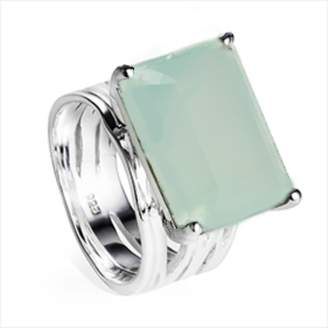 Neola Pietra Sterling Silver Cocktail Ring Aqua Chalcedony
