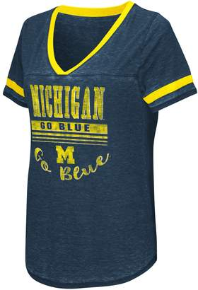NCAA Women's Campus Heritage Michigan Wolverines Gunther Jersey Tee