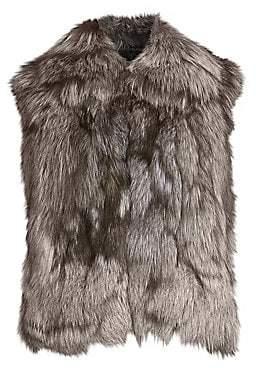 Adrienne Landau Women's Fox Fur Vest