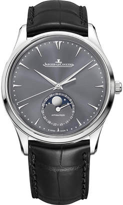 Jaeger-LeCoultre Q1363540 Master Ultra Thin Moon white-gold and leather watch