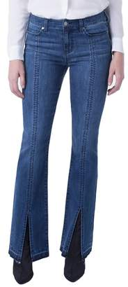 Liverpool Lucy Front Slit Bootcut Jeans