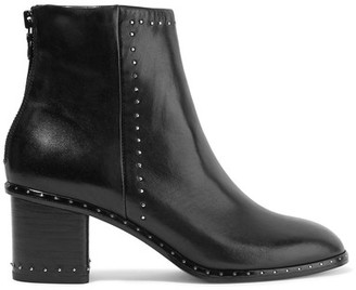 rag & bone - Willow Studded Leather Ankle Boots - Black $550 thestylecure.com