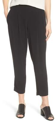 Eileen Fisher Slouchy Tencel(R) Lyocell Blend Crop Pants