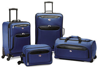 American Tourister American Tourister Four-Piece Brookfield Spinner Suitcase, Boarding Bag and Duffel Bag Set