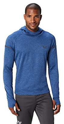 Peak Velocity Men's Thermal Waffle Long Sleeve Athletic-Fit Run Hoodie