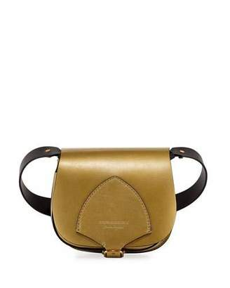 Burberry Mini Metallic Leather Satchel Bag