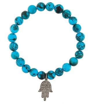 Gemco beaded diamond charm bracelet
