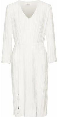Zimmermann Tasseled Plissé-Jersey Dress