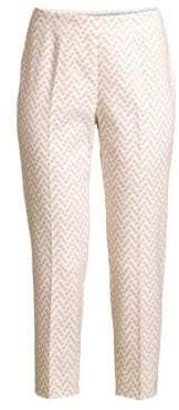 Peserico Women's Polka Dot Cropped Pants - Light Pink - Size 52 (16)