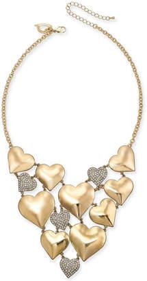 "Thalia Sodi Gold-Tone Pave Heart 11"" Choker Necklace"