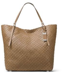 MICHAEL Michael Kors Michael Kors Collection Hutton Woven Leather Tote