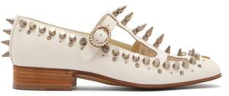 5b2c5defc63 Gucci Marcel Studded Leather Loafers - Womens - White