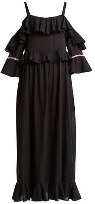 Daft - Paxos Off Shoulder Dress - Womens - Black