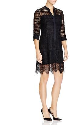 Elie Tahari Whitney Lace Shirt Dress $498 thestylecure.com