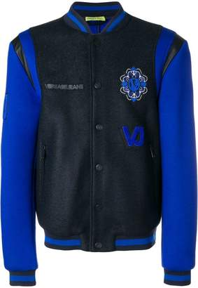 Versace patch embellished bomber jacket