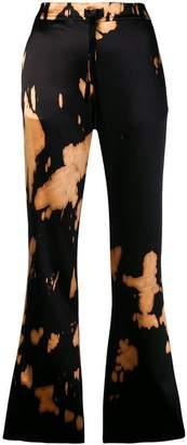 Marques Almeida Marques'almeida spotted print flared trousers