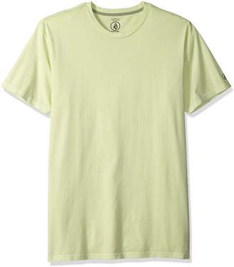 Volcom Men's Pale Wash Solid Short Sleeve T-Shirt