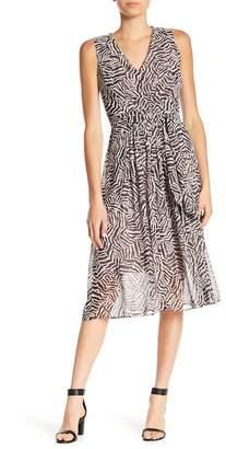 Anne Klein Zebra Waist Tie Dress
