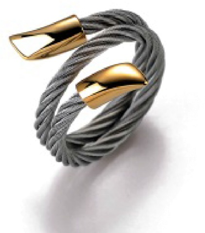 Charriol Charriol Stainless Steel and Gold Plated cableRing