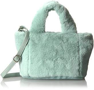 T-Shirt & Jeans Faux Fur Plush Mini Satchel
