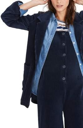 Madewell Texture & Thread Velour Corduroy Blazer