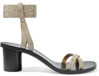 Isabel Marant Joakee Studded Suede Sandals - Neutral