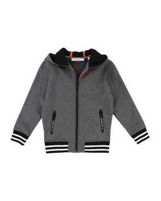 Givenchy Hooded Zip-Up Jacket w/ Logo Back, Size 6-10