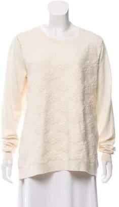 Lela Rose Wool Embellished Sweater