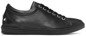 Jimmy Choo Black Leather Cash Sneakers