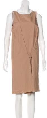 Brunello Cucinelli Silk-Paneled Sleeveless Dress w/ Tags