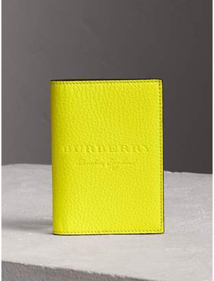 Burberry Embossed Leather Passport Holder