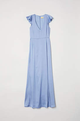 H&M Satin Maxi Dress - Blue