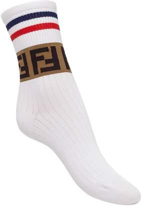 Fendi FF motif sport socks