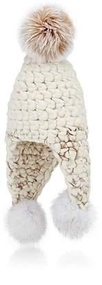Mischa Lampert Women's Triple Trouble Wool Hat - White+Marble