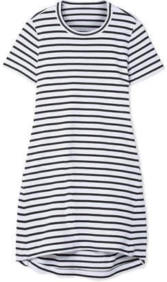 2bc57c1b95a Sacai Dixie Cutout Striped Cotton-jersey Mini Dress - White