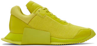 Rick Owens Yellow adidas Originals Edition New Runner Sneakers