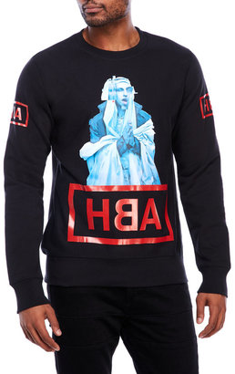 hood by air Graphic Crew Neck Sweatshirt $215 thestylecure.com